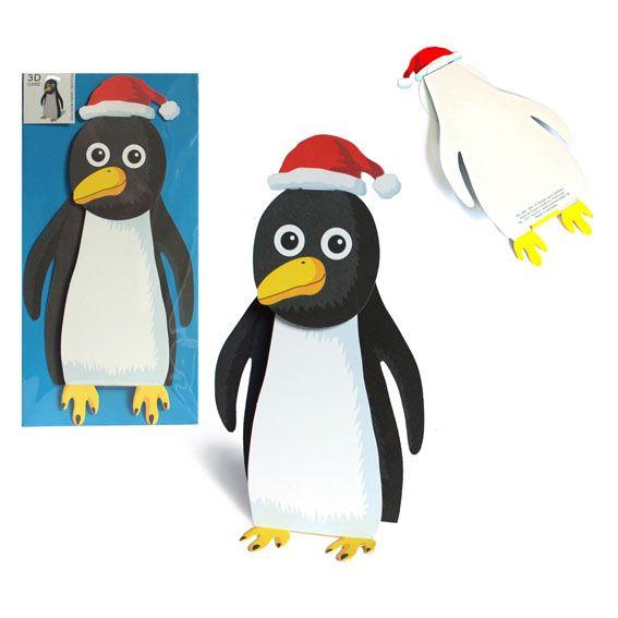 Pinguin mit Nikolausmütze