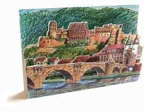 3D-Städtekarte Heidelberg