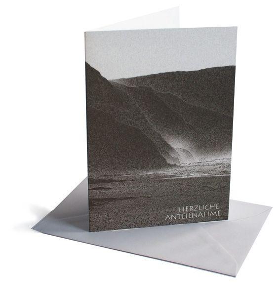 Trauerkarte Küste
