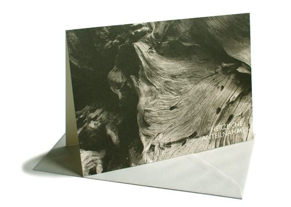 Trauerkarte Holz