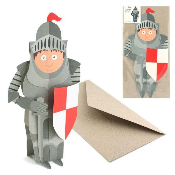 3D-Grusskarte Ritter
