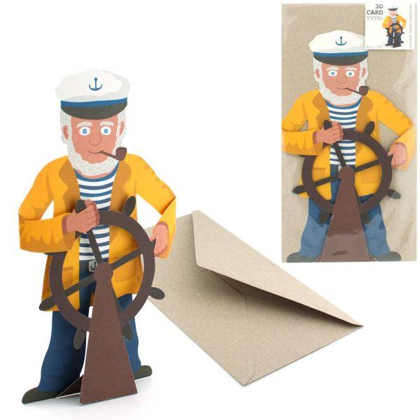3D-Grusskarte Kapitän