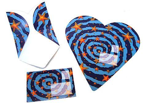 Herzfaltbrief Sternennacht