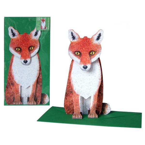 3D-Grusskarte Fuchs