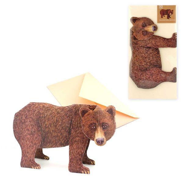 3D-Grusskarte Bär