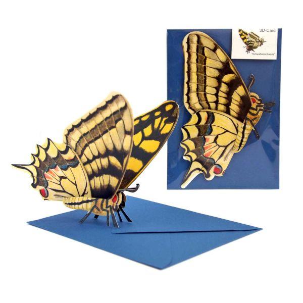 3D-Grusskarte Schwalbenschwanz