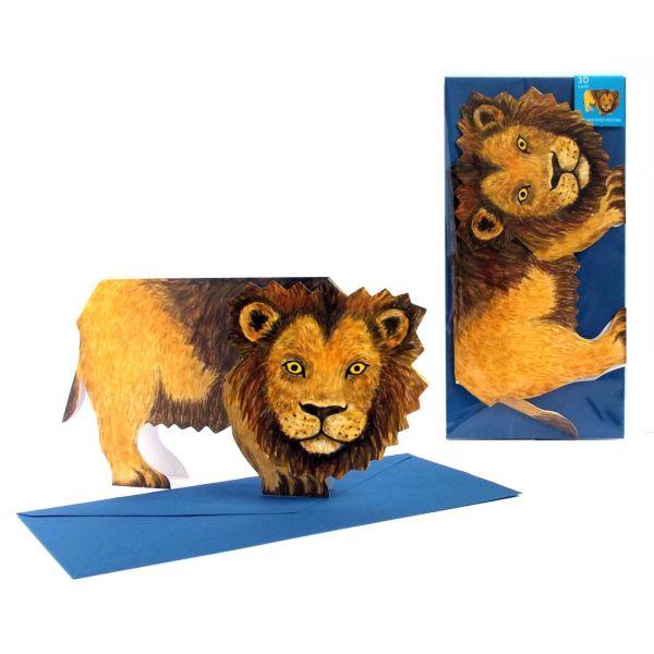 3D-Grusskarte Löwe