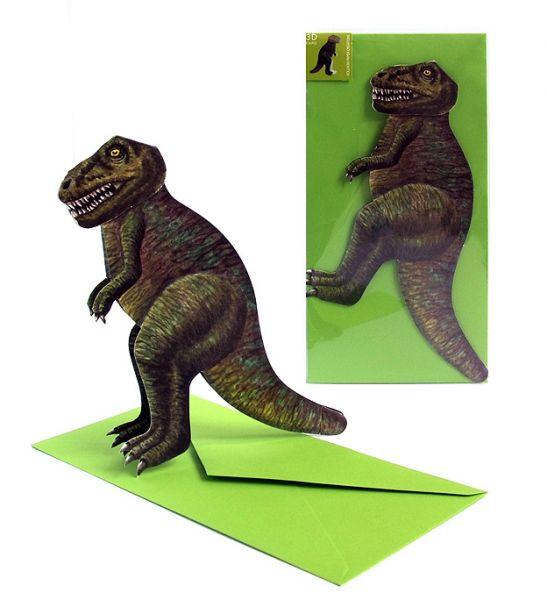 3D-Grusskarte Dinosaurier