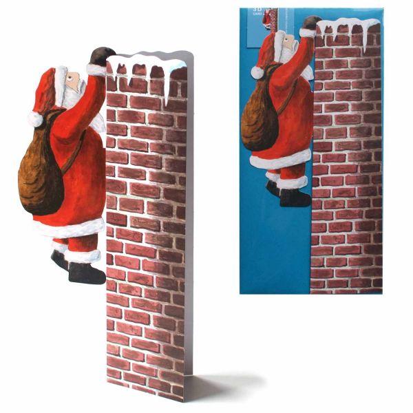 3D-Weihnachtskarte Nikolaus am Kamin
