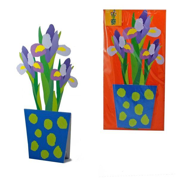 3D-Grusskarte Iris