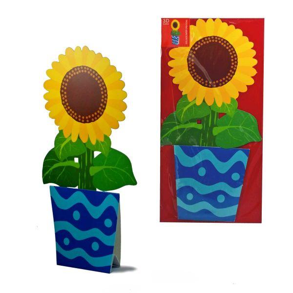 3D-Grusskarte Sonnenblume