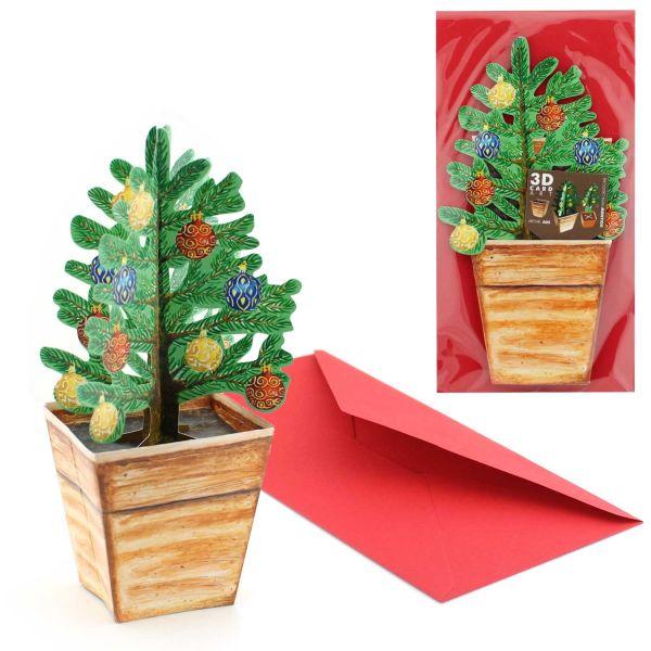 3D-Grusskarte Weihnachtsbaum