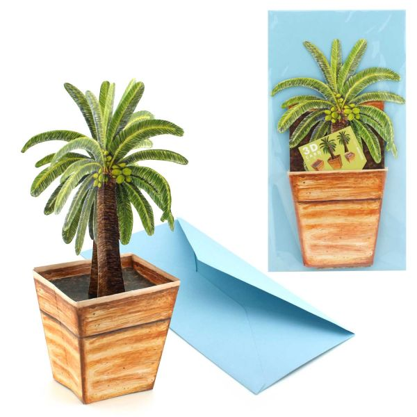 3D-Grusskarte Palme
