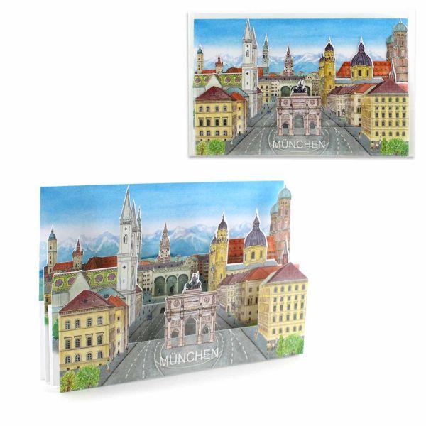 3D-Städtekarte München