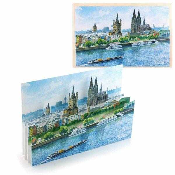 3D-Städtekarte Köln