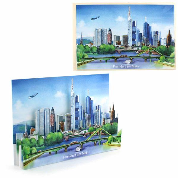 3D-Städtekarte Frankfurt