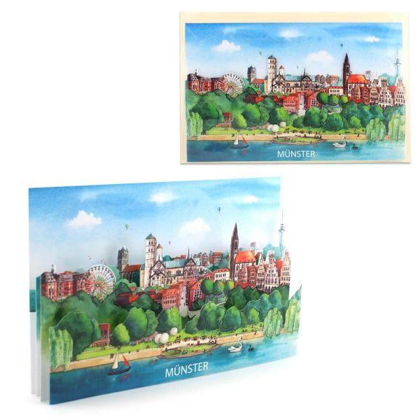 3D-Städtekarte Münster