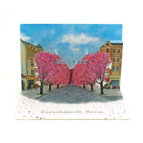 Pop-up-Karte zur Kirschblüte in Bonn