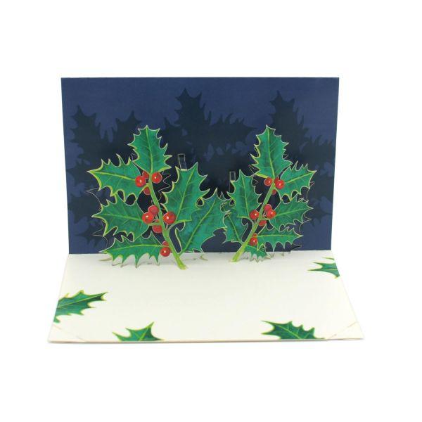 Pop up card of an Ilex plant