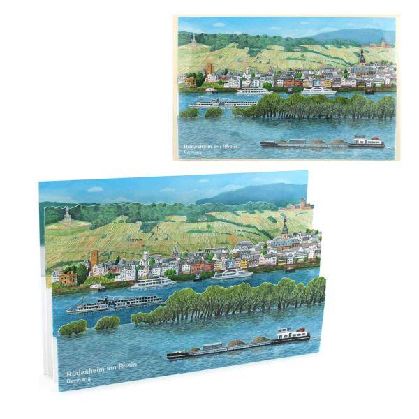 3D-Städtekarte von Rüdesheim