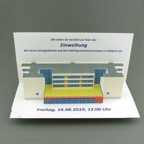 Pop-up-card as an invitation card