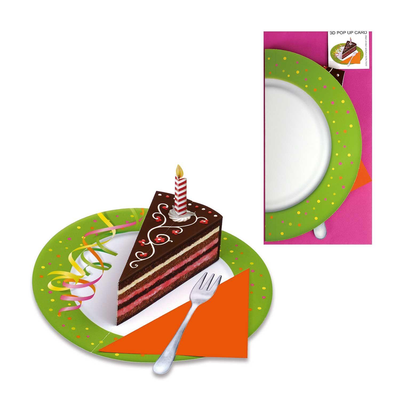 Pop Up Karte Geburtstagstorte Auf Teller