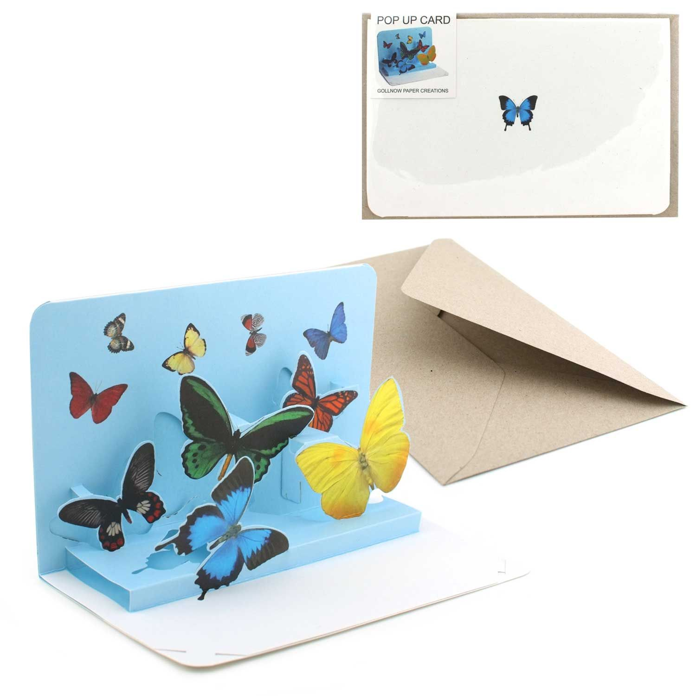 Pop Up Karte Schmetterlinge
