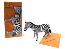 3D-Grusskarte Zebra