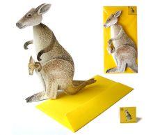 3D-Grusskarte Känguru