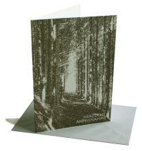 Trauerkarte Weg durch Fichtenwald