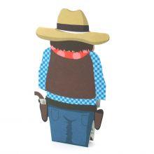3D-Grusskarte Cowboy