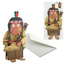 3D-Grusskarte Indianer