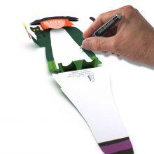 3D-Grusskarte Hexe