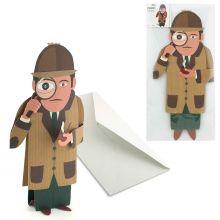 3D-Grusskarte Detektiv