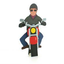 3D-Grusskarte Motorradfahrer