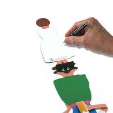 3D-Grusskarte Bayerin im Dirndl