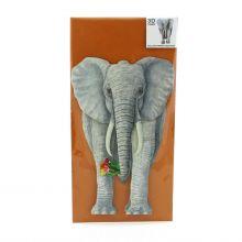 Dreidimensionale Elefantenkarte
