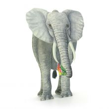 Threedimensional Elephant as a greeting card