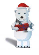 Eisbär mit Nikolausmütze