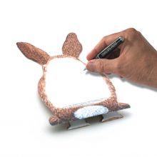 3D-Grusskarte Kleiner Hase