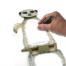 3D-Grusskarte Erdmännchen