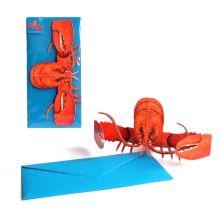 3D-Grusskarte Roter Hummer