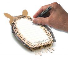 3D-Grusskarte Eule