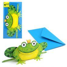 3D-Grusskarte Froschkönig