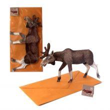 3D-Grusskarte Elch