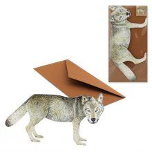 3D-Grusskarte Wolf