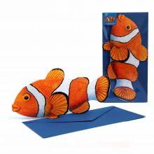 3D Grusskarte Clownfisch