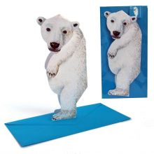 3D-Grusskarte Eisbär