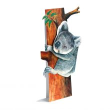 3D-Grusskarte Koalabär