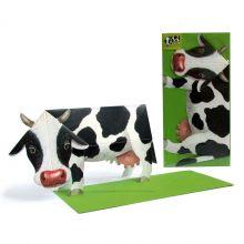 3D-Grusskarte Kuh